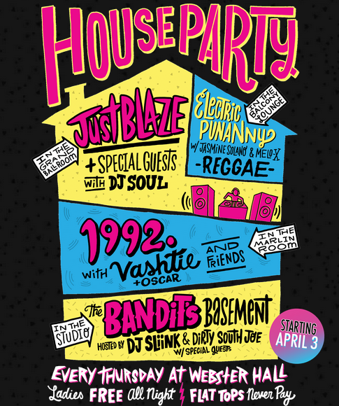 90s Hip Hop Invitation