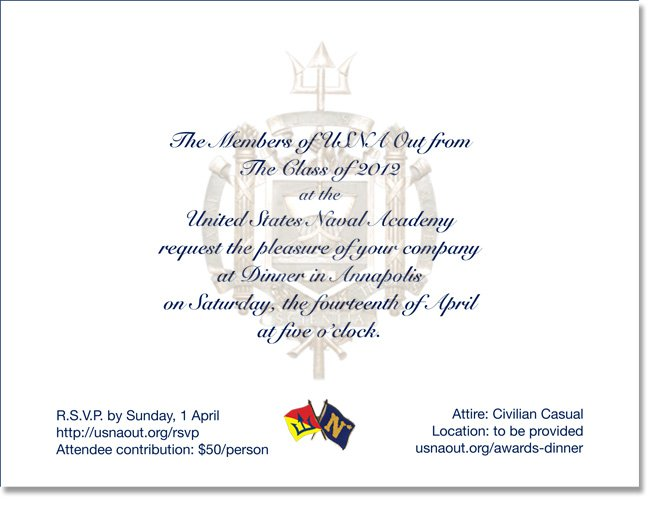 staff dinner invitation