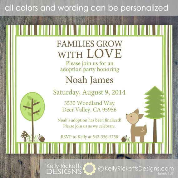 Adoption Party Invitation Wording