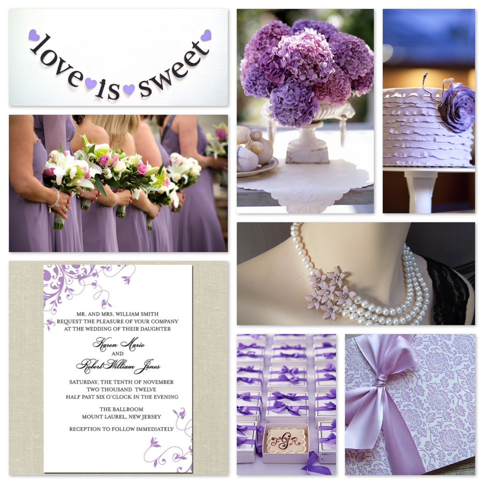 African Violet Wedding Invitations