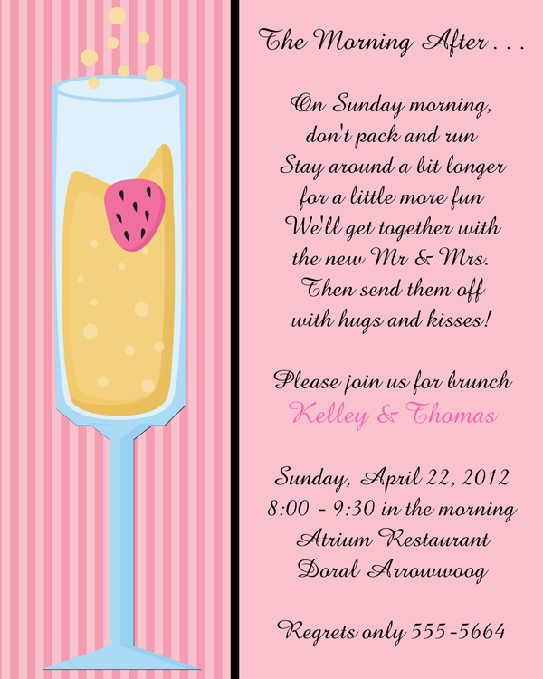 after wedding brunch invitation wording
