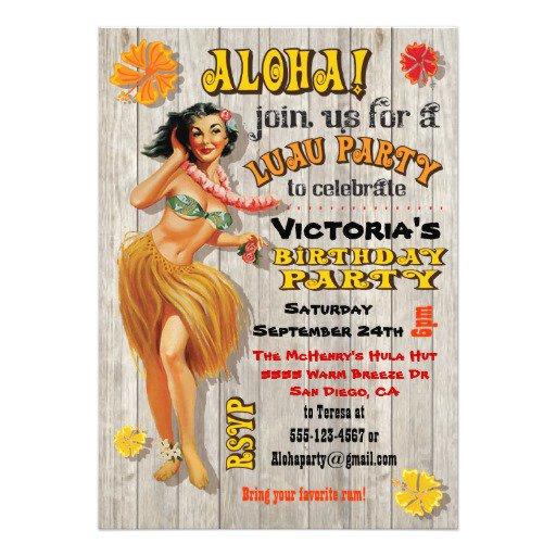 Aloha Birthday Invitations
