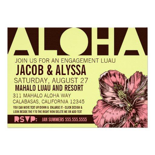 Aloha Wedding Invitations