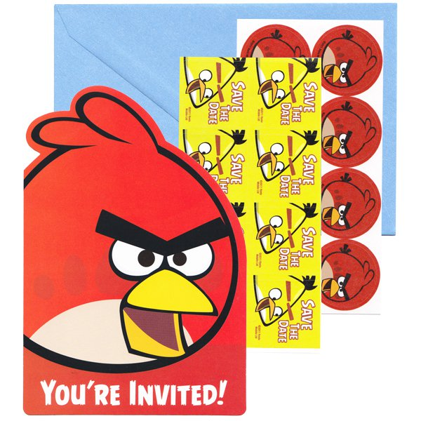 Angry Birds Birthday Invitations Blank