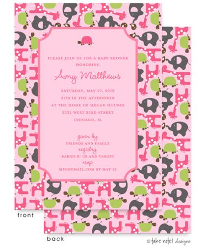 Animal Print Baby Shower Invitations