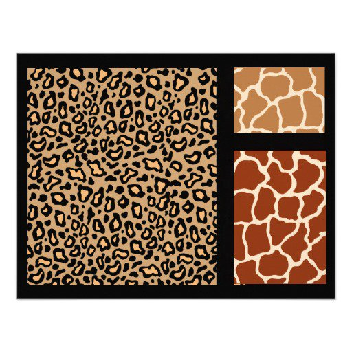 Animal Print Paper For Invitations