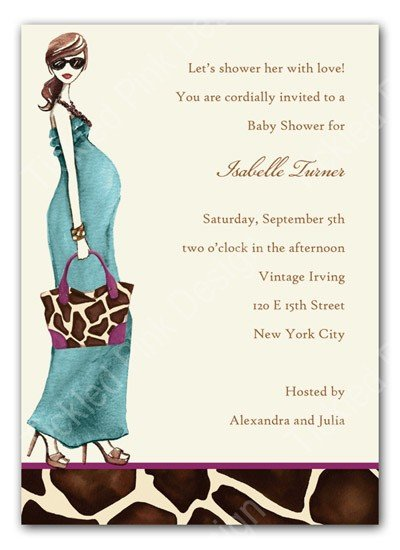 Animal Print Shower Invitations