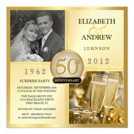 Anniversary Invitations Golden Celebration