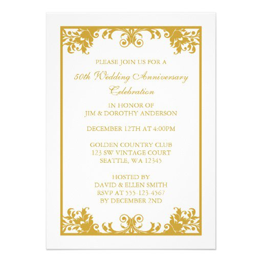 Anniversary Invitations Templates