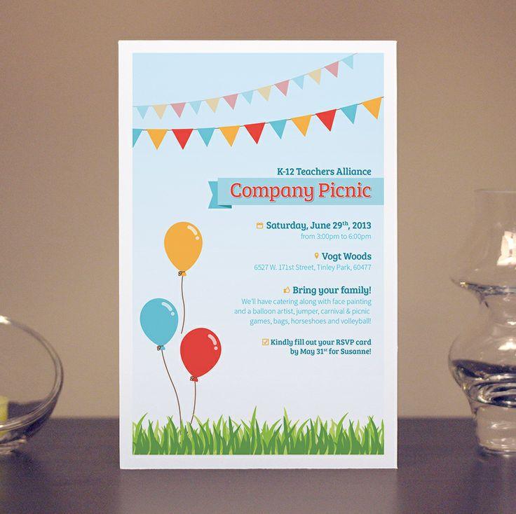 Annual Company Picnic Invitations