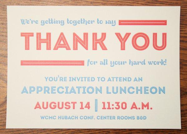 Appreciation Invitation Templates