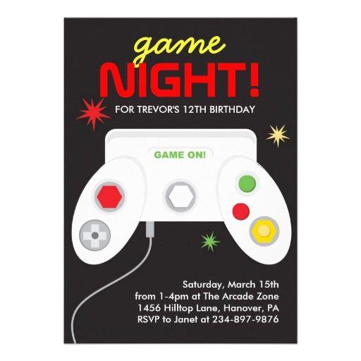 Arcade Birthday Party Invitations