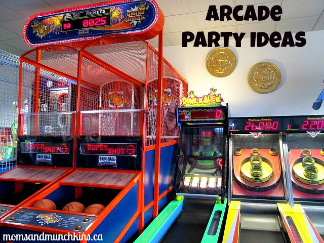 Arcade Themed Birthday Party Invitations