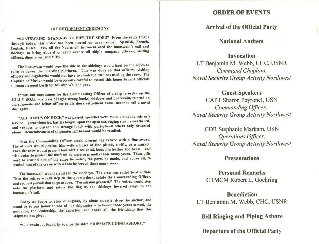 Retirement Ceremony Invitations