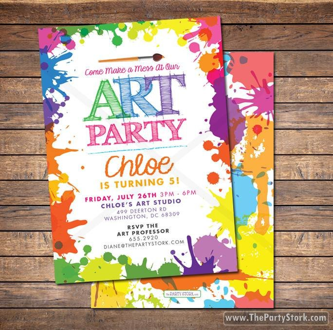 Art Show Invitation Ideas