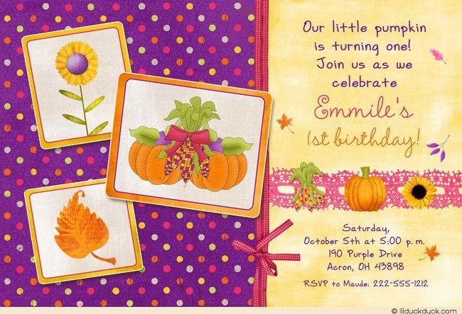 Autumn Birthday Invitations