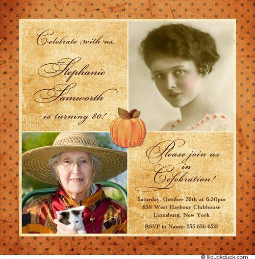 Autumn First Birthday Invitations