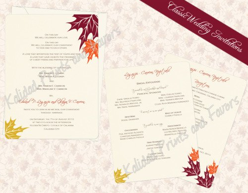 Autumn Themed Birthday Invitations