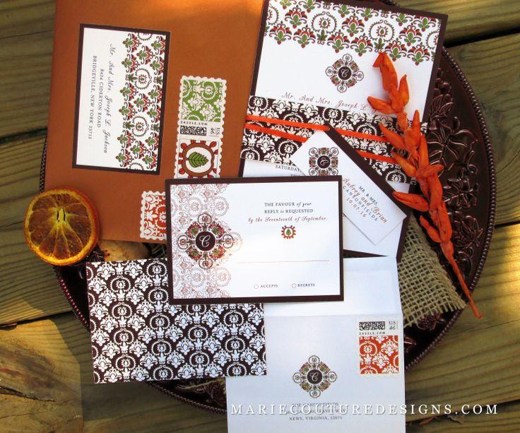 Autumn Wedding Invitation Sets