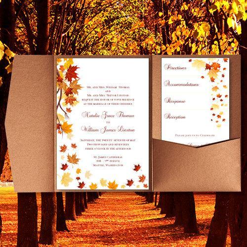 Autumn Wedding Invitation Templates