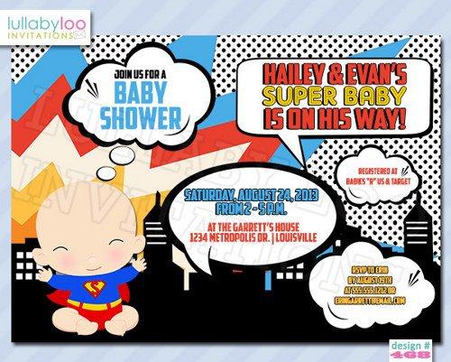 Avengers Baby Shower Invitations