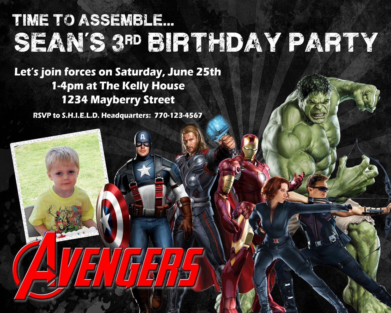 Avengers Birthday Invitations Free