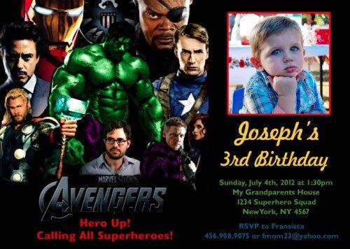 Avengers Custom Invitations