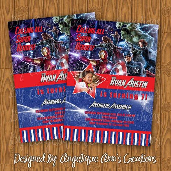 Avengers Invitations Custom