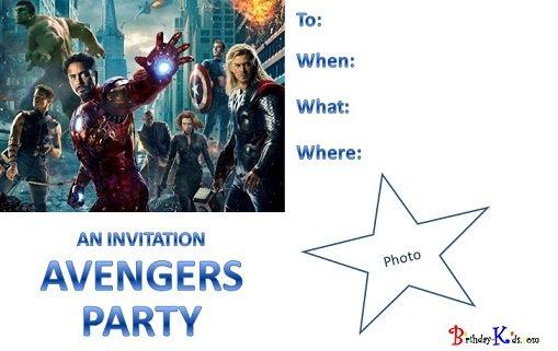 Avengers Printable Birthday Invitations