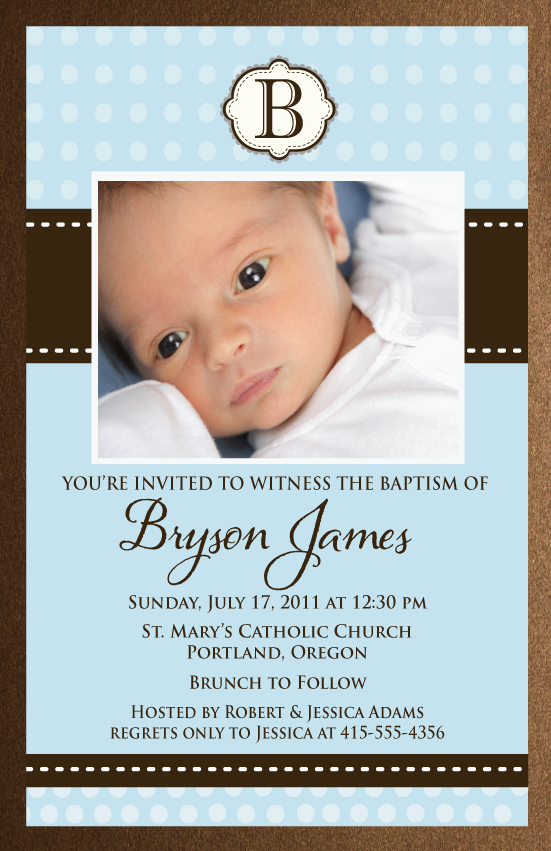 Baptism Invitations Templates