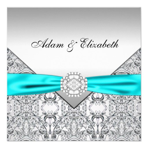 Baby Blue And Silver Invitations