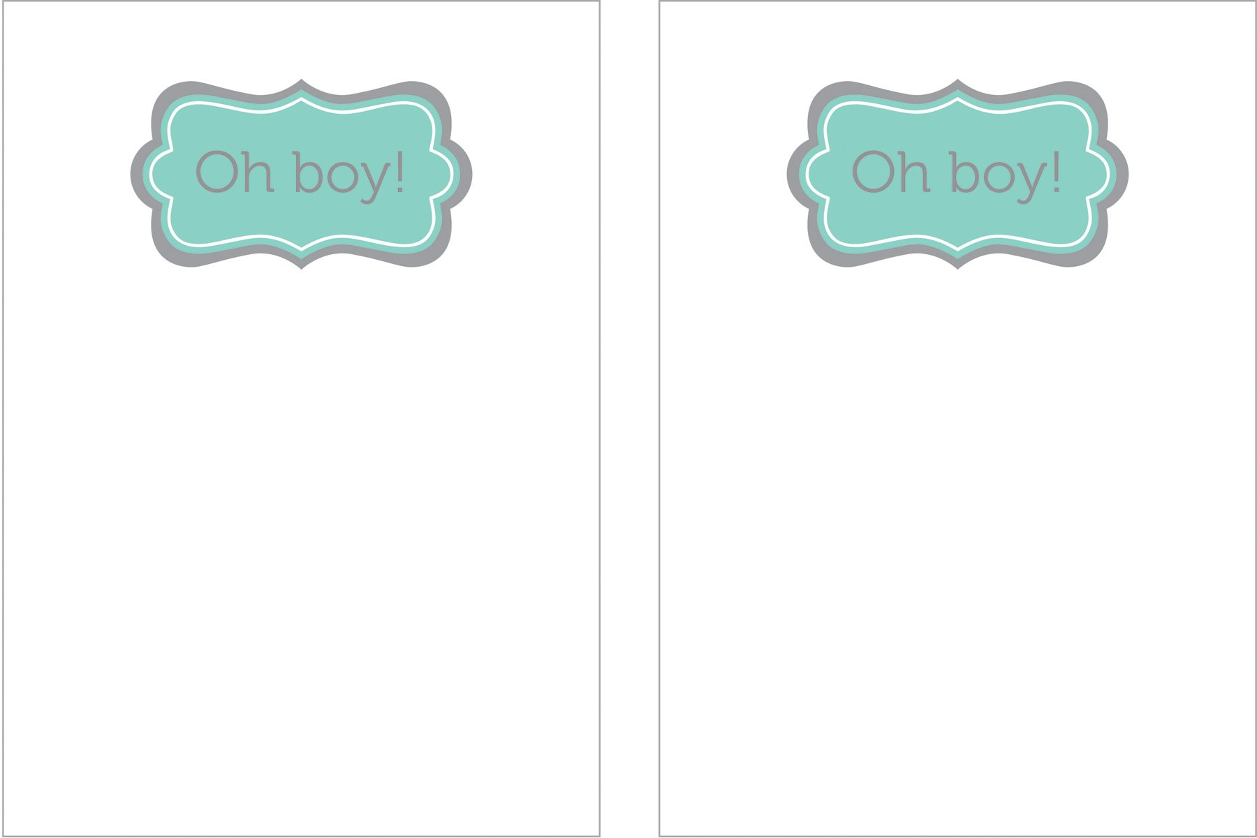 Baby Boy Oh Boy Printable Invitation