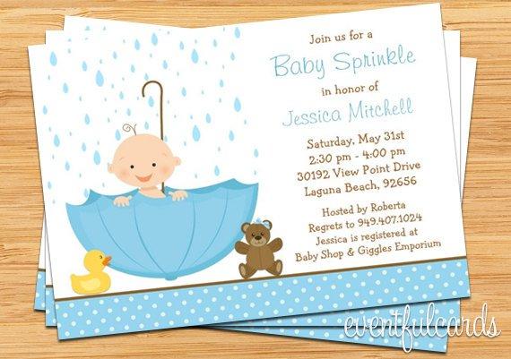 Baby Boy Sprinkle Invitations Etsy