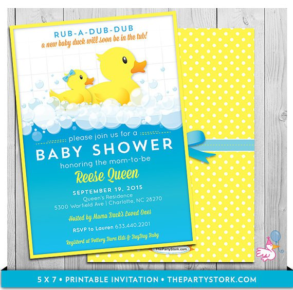 Baby Duck Shower Invitations Free Printables