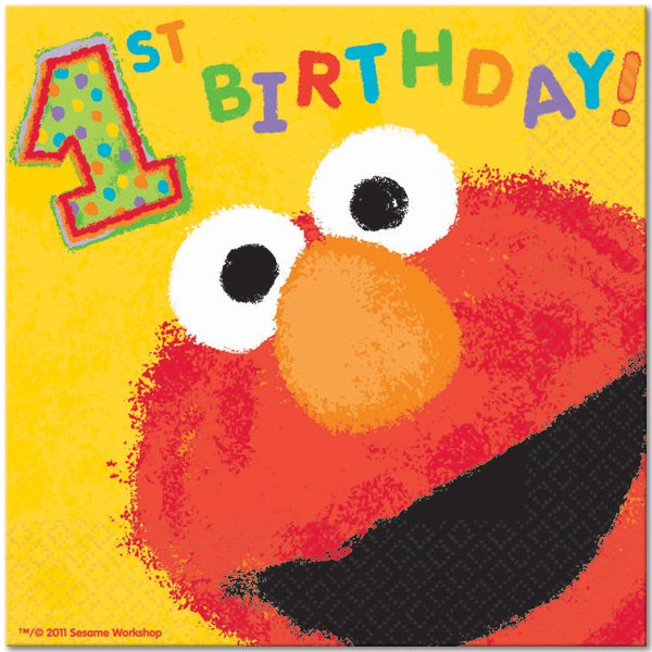 Baby Elmo First Birthday Invitations