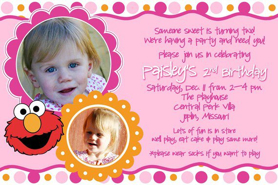 Baby Elmo Invitations