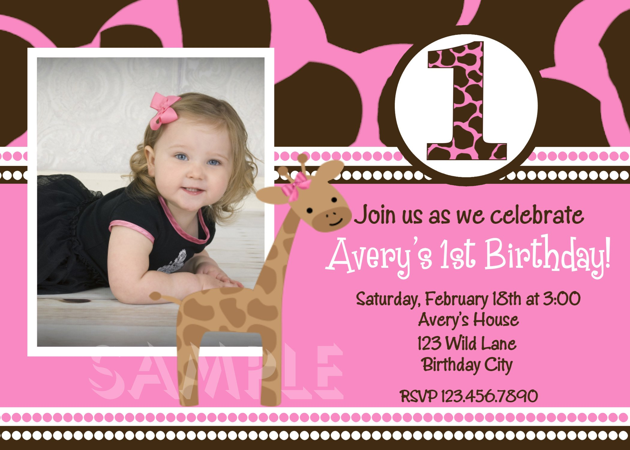 First Birthday Invitations Printable