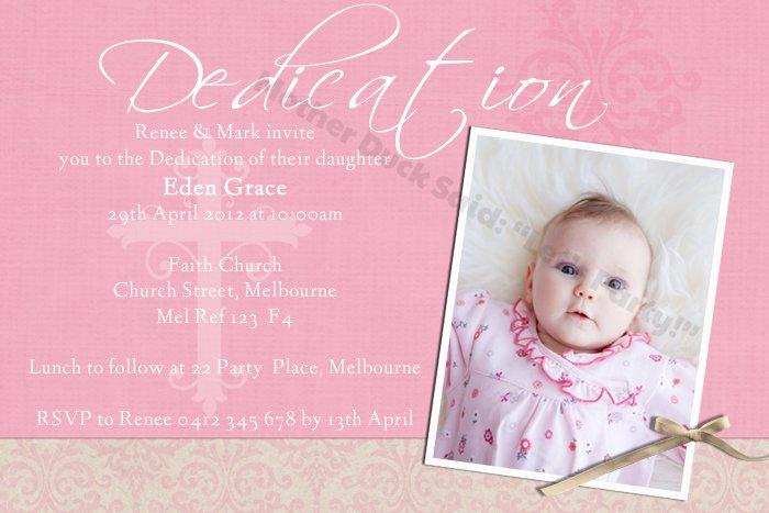 Baby Girl Baptism Invitations Pinterest