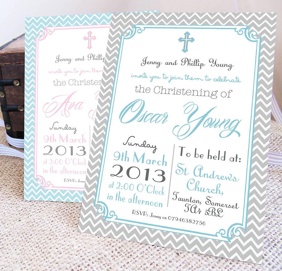 Baby Girl Christening Invitation Ideas