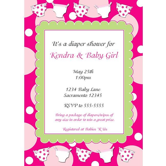 Baby Girl Shower Invitations Printable
