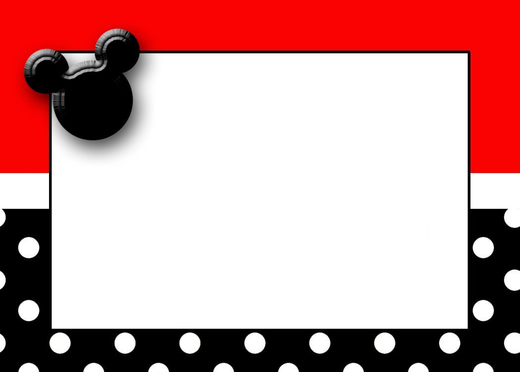 Baby Mickey Mouse Invitation Cards