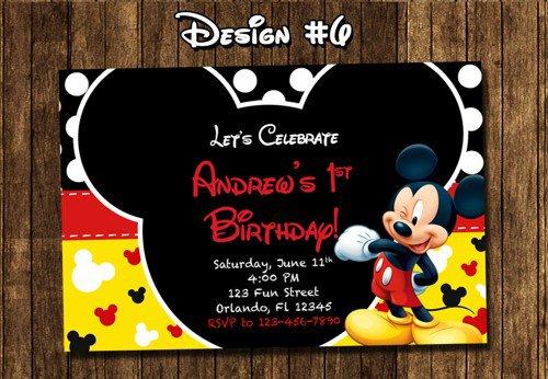 Baby Mickey Mouse Invitations Australia