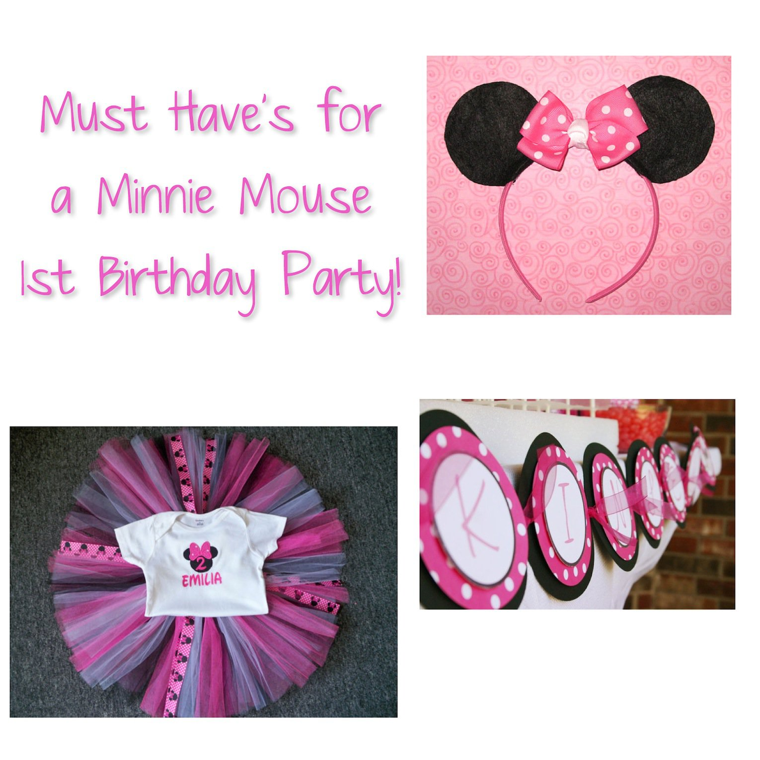 Baby Minnie Mouse First Birthday Party Ideas