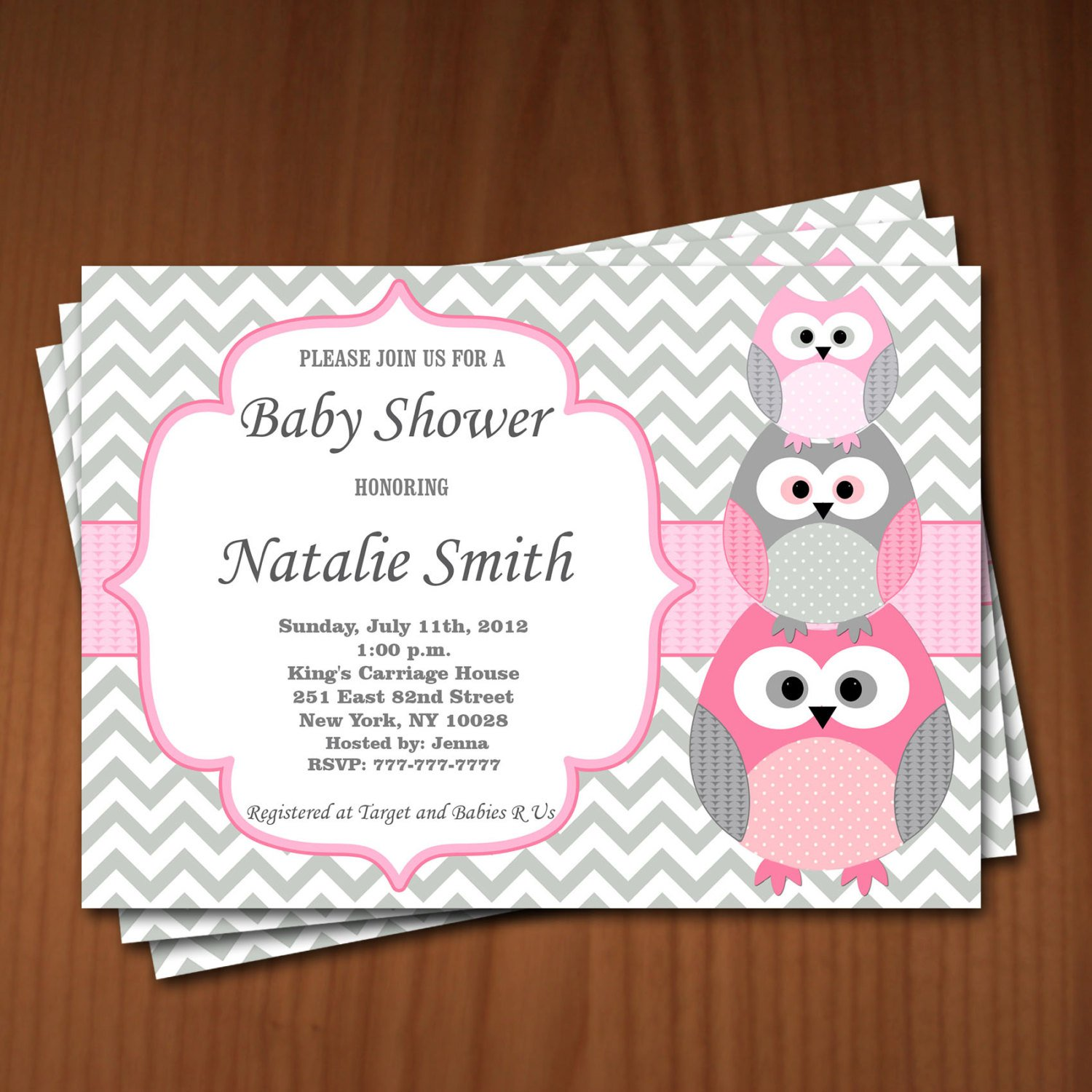 Baby Owl Invitation Templates