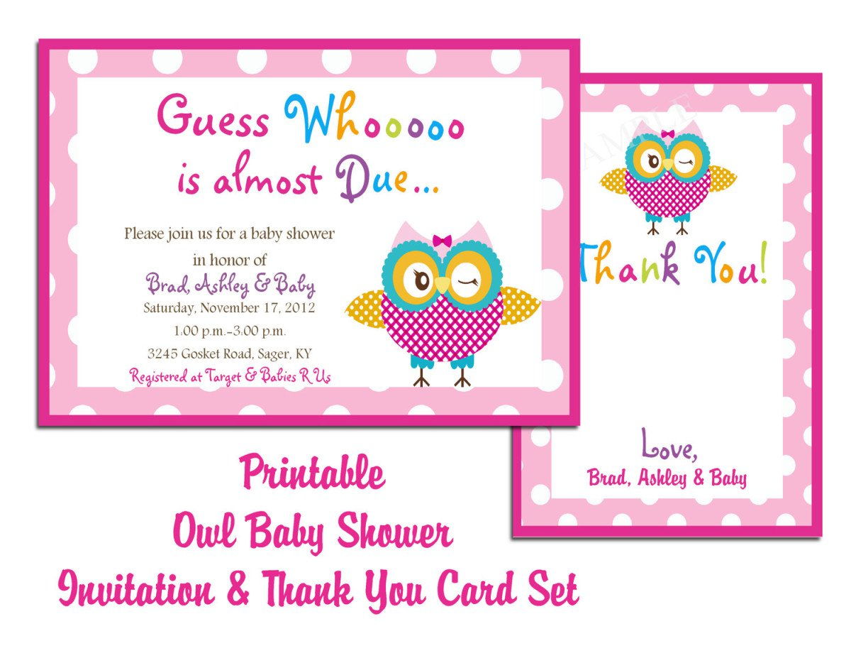 Baby Shower Blank Invitations