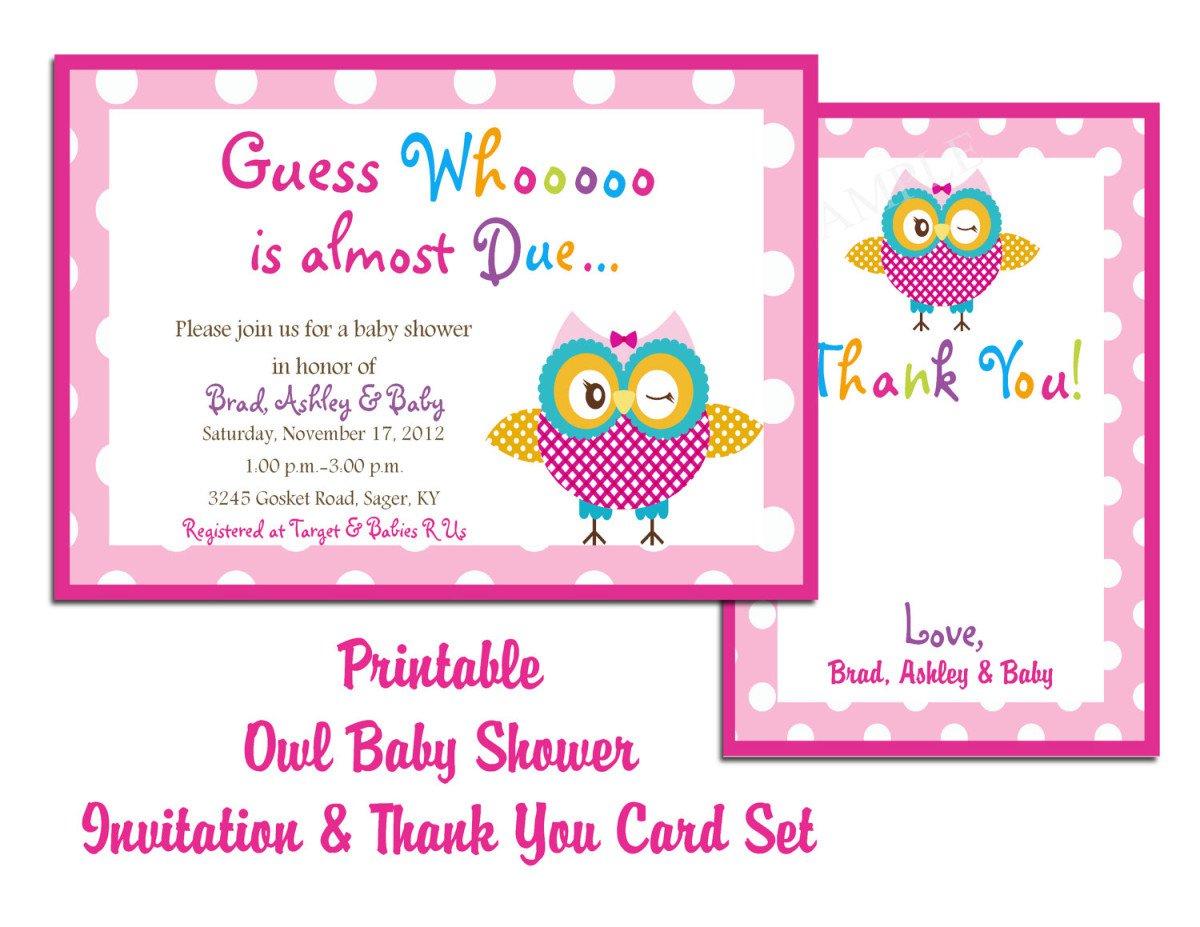 Baby Shower Blank Invitations