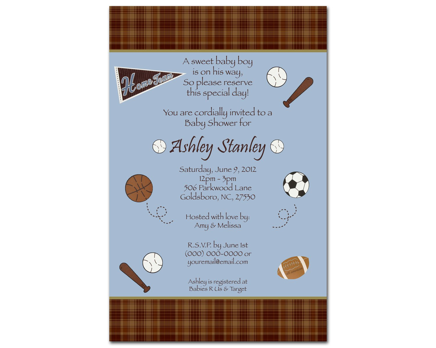 Baby Shower Invitation At Party City