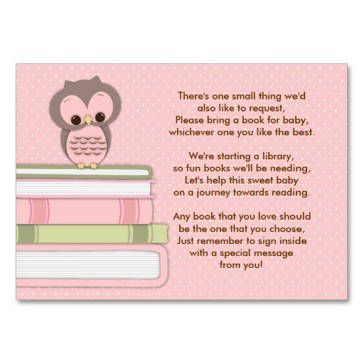 Baby Shower Invitation Inserts Templates