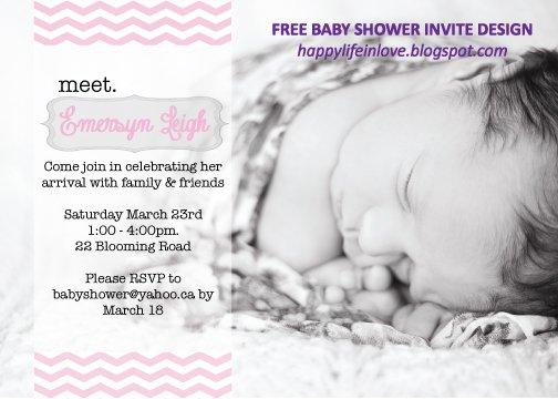 Baby Shower Invitation Pdf Template