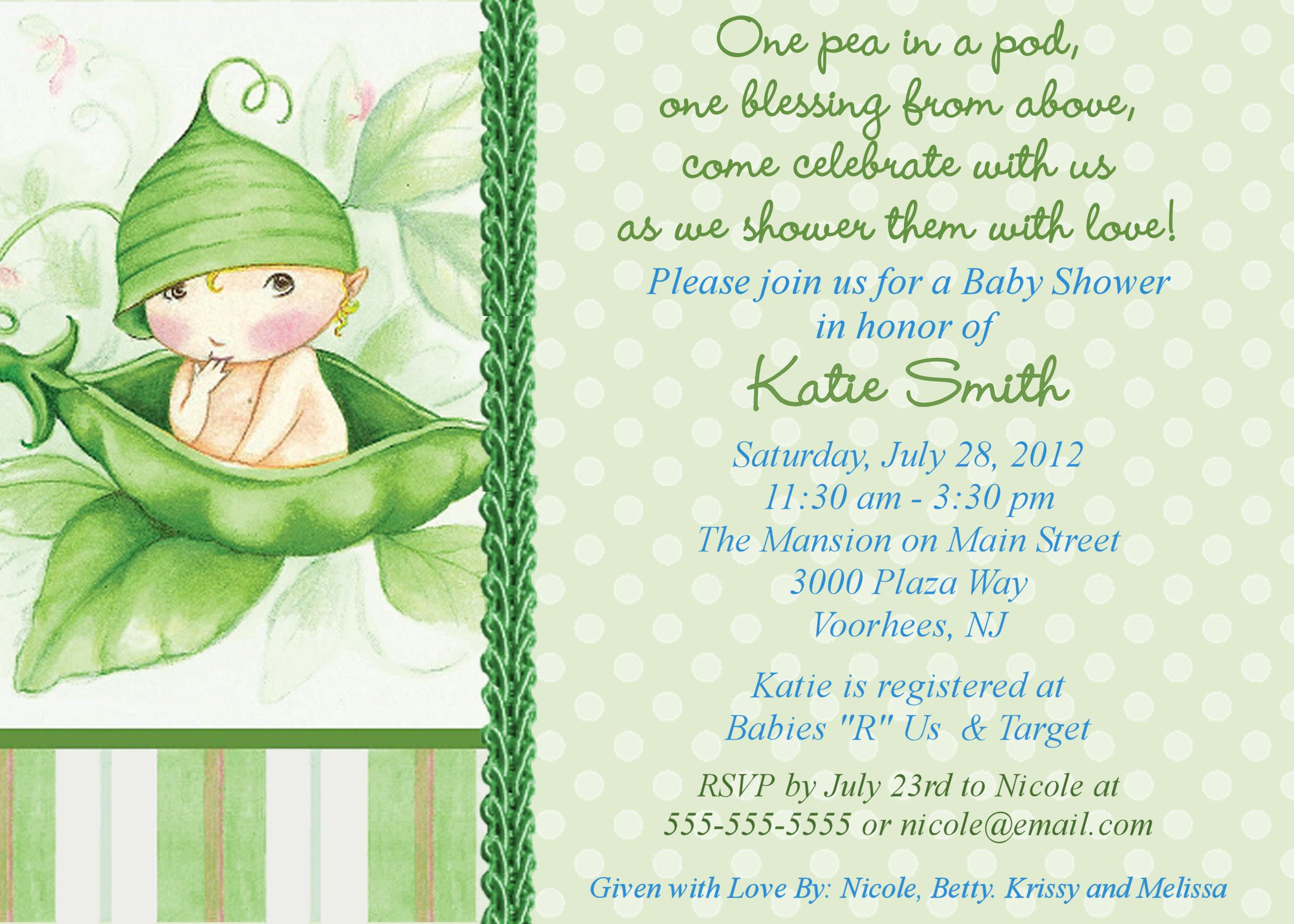 Baby Shower Invitation Printable Templates Free